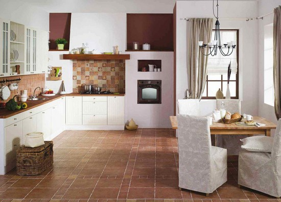 Полы на кухне фото