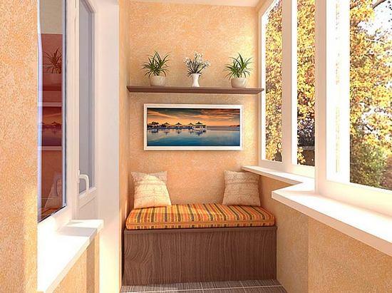 Женская спальня с балконом