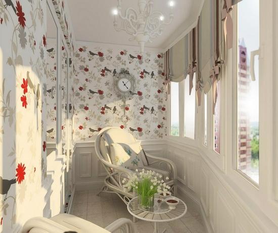 Дизайн балкона в комнате девушки