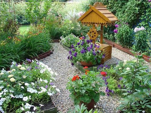 Садовые дорожки из мраморной крошки фото