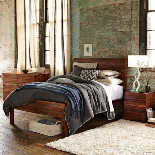 Стиль гранж в дизайне интерьера спальни