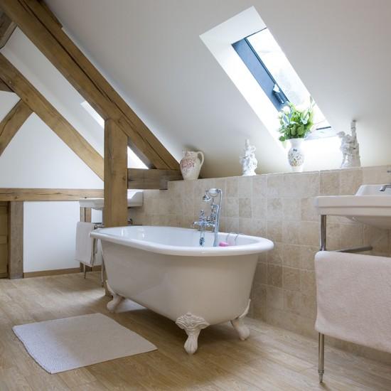 ванная комната в мансарде дизайн