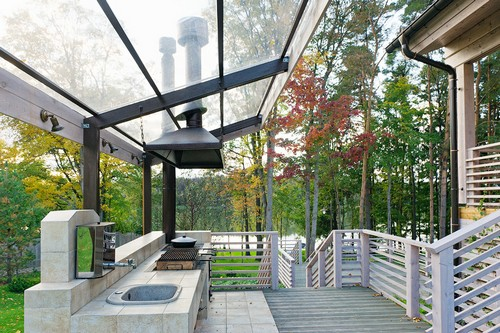 Кухня на свежем воздухе фото