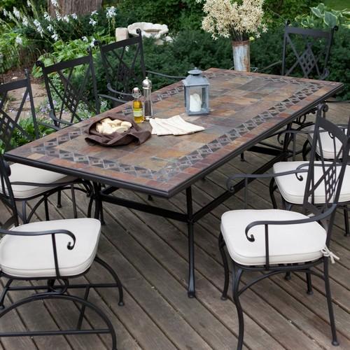 Мебель для уличной обеденной зоны в саду