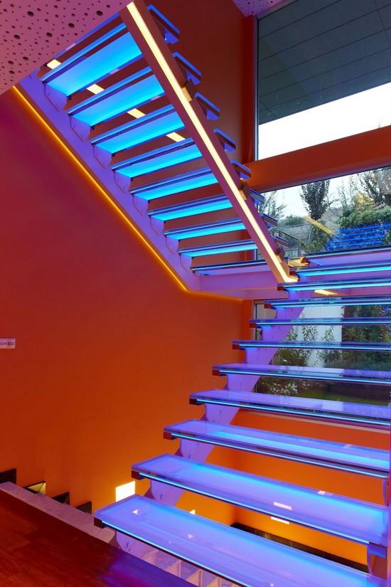 Подсветка ступеней лестницы фото