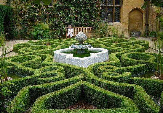 Садовые лабиринты фото