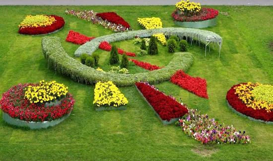 Лабиринты из цветов фото