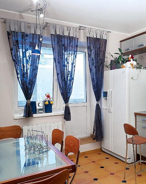 кухонные шторы на петлях