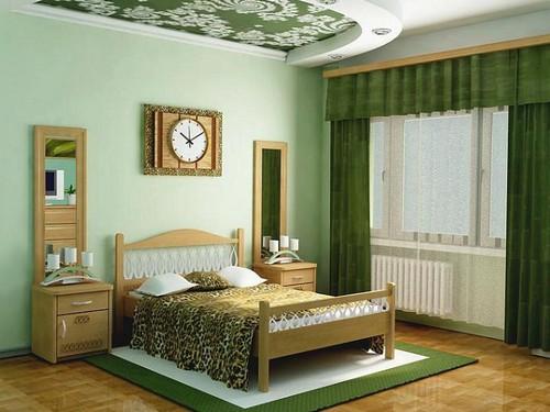 Дизайн потолка над кроватью