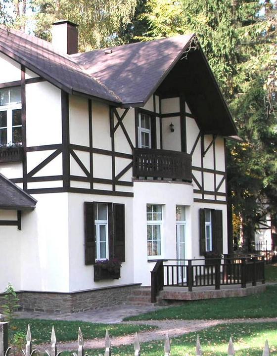 фасад дома в стиле фахверк