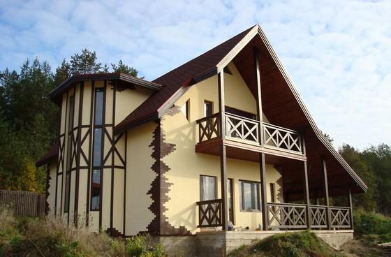 Дом в стиле фахверк фото