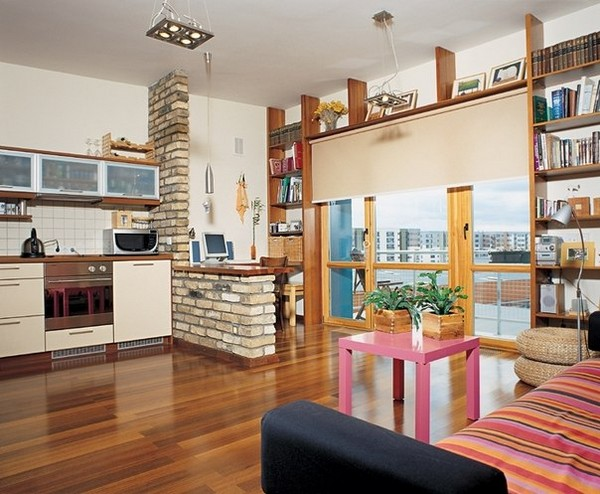 Как отделить кухню в квартире студии