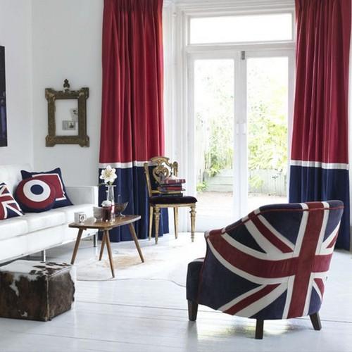 Кресло с британским флагом