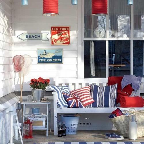 Британский флаг в интерьере фото
