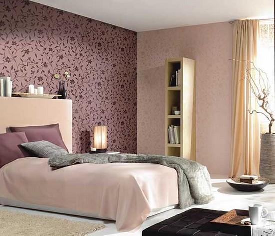 Комбинирование обоев для спальни фото