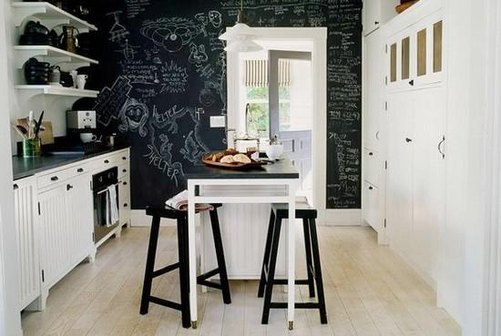Идеи комбинирования обоев на кухне