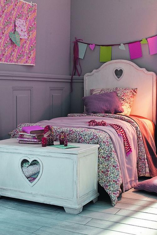 Лиловый цвет в интерьере комнаты для девочки
