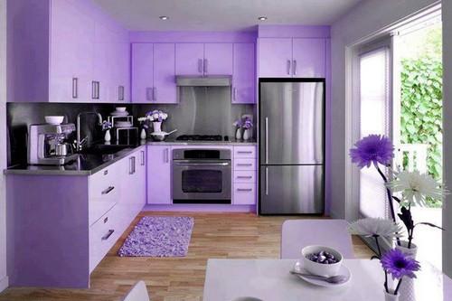 кухни лилового цвета фото