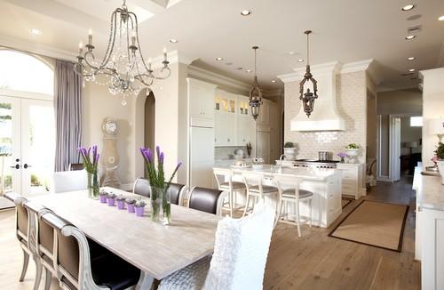 Аксессуары и декор для кухни в лиловом цвете