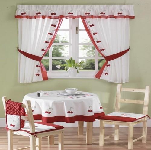Красивые шторы для кухни на кулиске