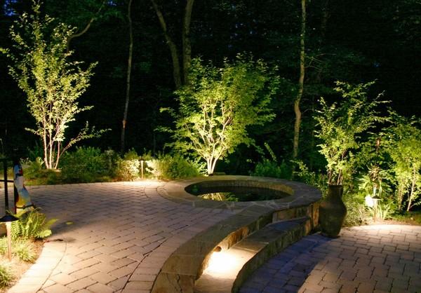 Садовое декоративное освещение фото