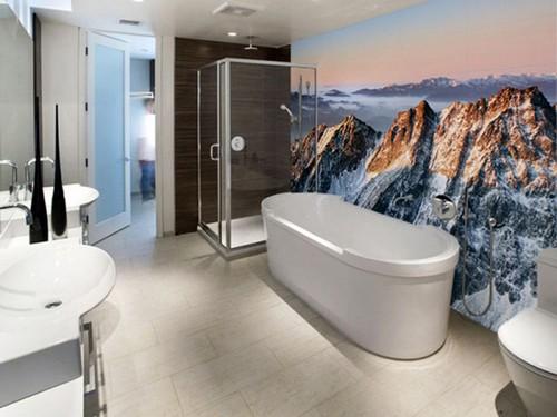 3Д-фотообои для ванной фото