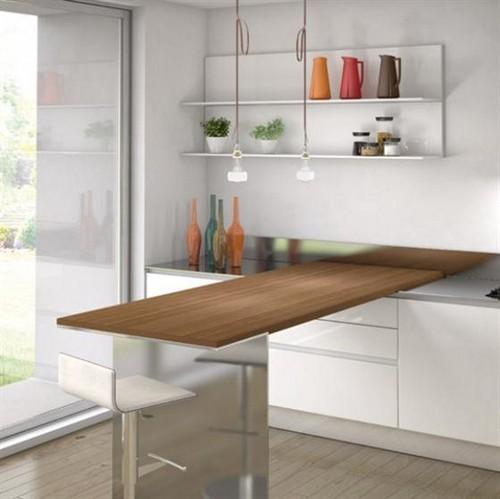 Выдвижная столешница для маленькой кухни фото