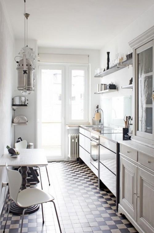 дизайн маленькой узкой кухни фото