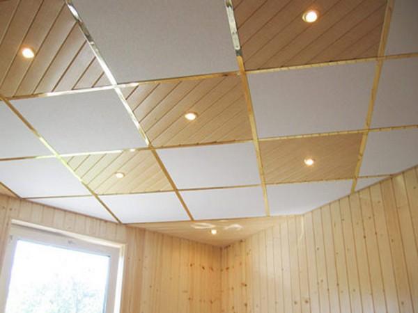 Потолочная плитка из комбинированных материалов