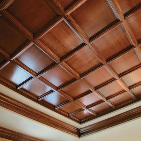 Потолочная плитка из дерева