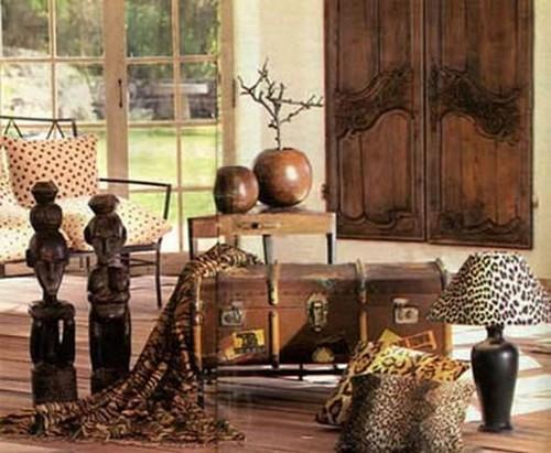 Напольные статуэтки для интерьера в африканском стиле