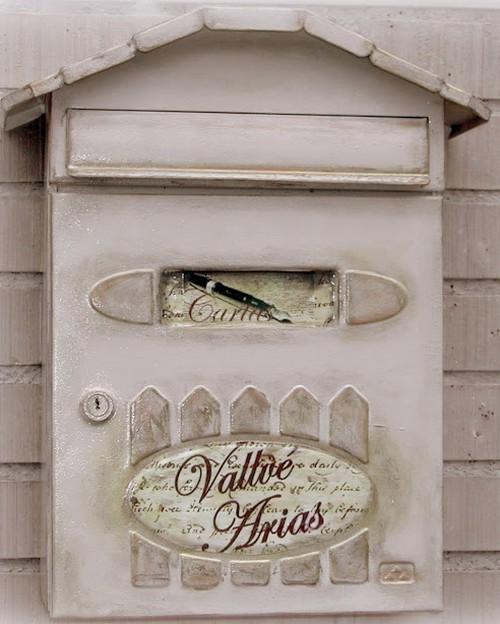 Оформление почтового ящика в технике декупаж своими руками
