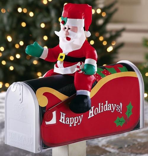 Почтовый ящик с новогодним оформлением