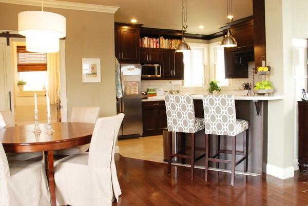 Небольшая барная стойка на кухне фото