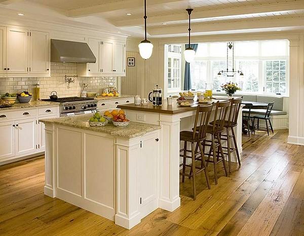 Остров на кухне с барной стойкой фото