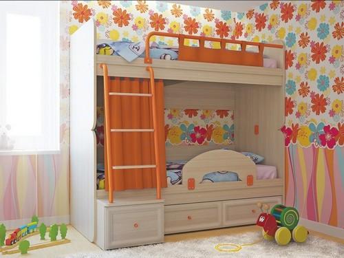 Двухъярусная кровать с бортиками фото
