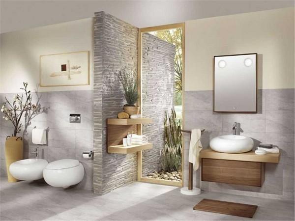 Просторная ванная комната по фен шуй фото