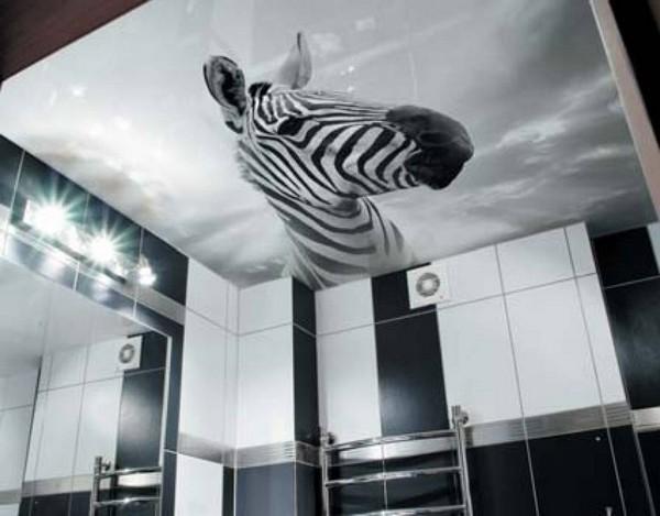 Натяжные потолки с фотопечатью для ванной комнаты