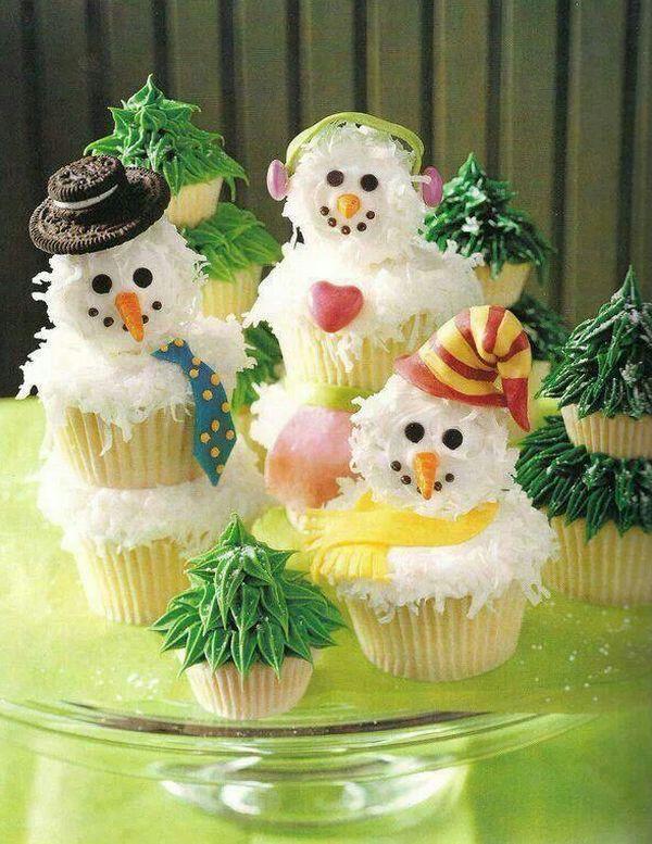 Съедобные снеговики
