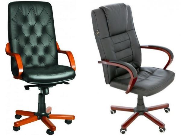 Офисные кресла из натуральной кожи фото