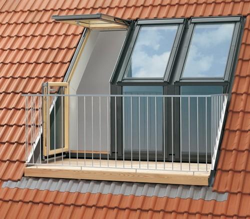 окно балкон для мансарды