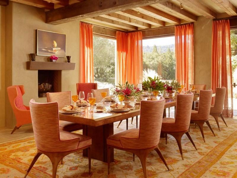 Персиковый цвет интерьере