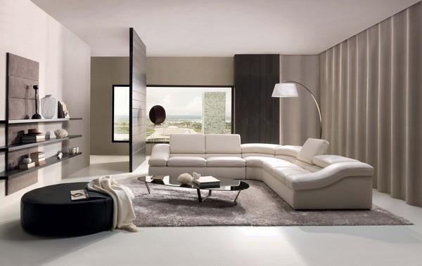 Интерьер гостиной в стиле техно