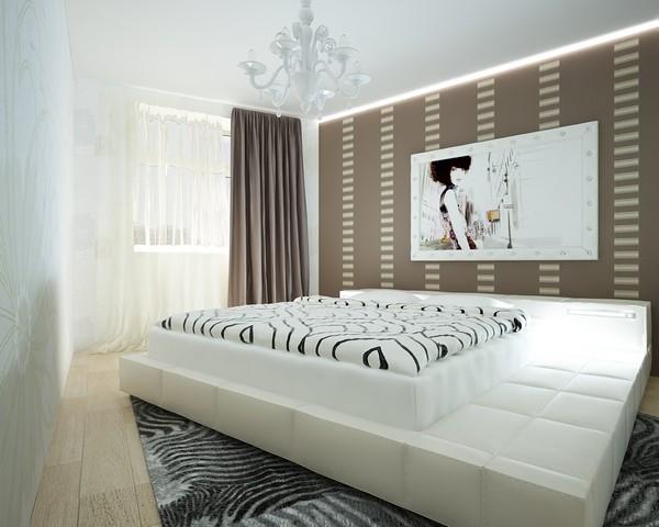 Кровать-подиум для стиля техно
