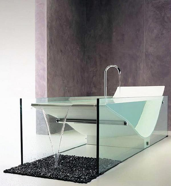 ванная комната в стиле техно