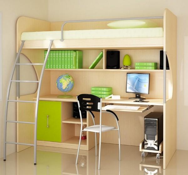 Кровать для мальчика с рабочим местом