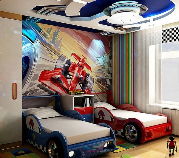 Кровати-машины для двух мальчиков