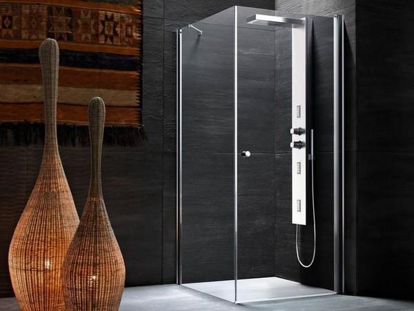 Душевые кабины без поддона в интерьере ванной