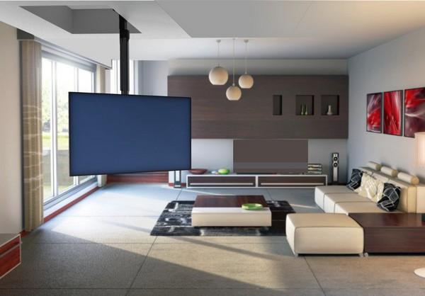 Как подвесить телевизор на потолок