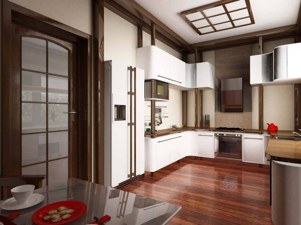 кухня в японском стиле дизайн фото
